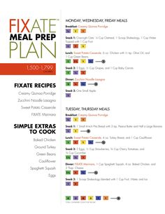 FIXATE Meal Plan Menu for 1,500-1,799 Calories // healthy recipes // meal prep // meal prepping ideas // 21 Day Fix approved // 21DF // fix friendly // healthy menu // healthy eating // breakfast // lunch // dinner // snacks // Shakeology // Beachbody // BeachbodyBlog.com