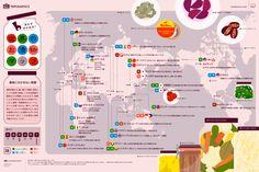 世界のお漬物マップ 冷蔵庫や冷凍庫のない時代、大切な食材の保存法であり、風味を高める調理法でもあった『漬物』。日本やアジアはもちろん、世界中の家庭で受け継がれ、食べられている伝統食品『漬物』を集めてみました。