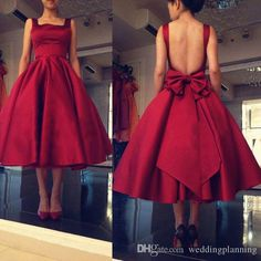 2017 Newest Dance Short Tea Length Evening Dresses Real Picture With Bow Pleated…
