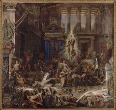 """Gustave Moreau, """"Les Prétendants"""", huile sur toile, Paris, Musée Gustave Moreau"""