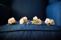 #boutonniere  Photography: Vallentyne Photography - www.vallentynephotography.com  Read More: http://stylemepretty.com/2010/12/29/traditional-la-jolla-wedding-by-moira-events-design/