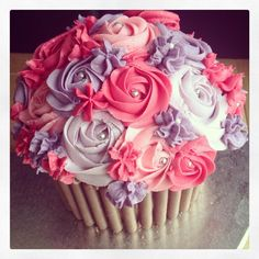 Pink & Purple Giant Cupcake
