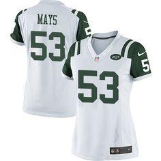NFL New York Jets Joe Mays Women Limited White #53 Jerseys