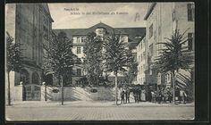 Alte Ansichtskarte: AK Berlin-Neukölln, Schule in der Rütlistraße als Kaserne