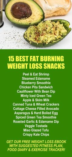 15 Best Fat Burning Weight Loss Snacks. Get healthy and lose weight with our alkaline rich, antioxidant loaded, weight loss products that help you increase energy, detox, cleanse, burn fat and lose weight more efficiently without changing your diet, incre