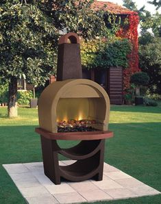 Outdoor fireplace, fire pit, cooker, barbecue this is gorgeous. #fireplace #firepit #fire