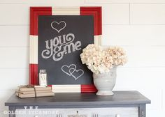 Chalkboard Frame, would be good in the kitchen for memos or grocery list