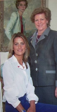 Princess Tatiana with her mother-in-law Queen Anne Marie of Greece