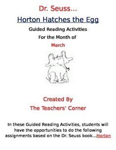 horton hatches the egg reading comprehension worksheet Dr Seuss ...