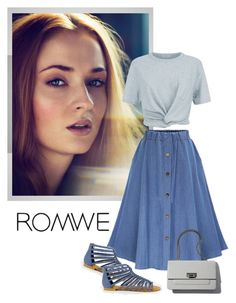 """""""ROMWE SKIRT"""" by soniamazeto ❤ liked on Polyvore featuring T By Alexander Wang"""