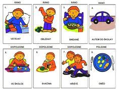 Pro Šíšu: Muj den 4 Kids, Cool Kids, Daily Jigsaw, Day For Night, Kids Education, Kids And Parenting, Montessori, Worksheets, Activities For Kids