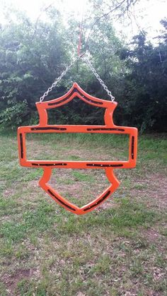 Horse Shoe Harley sign Includes hanging by LawsonsMetalCreation  www.facebook.com/lawsonsmetalcreations