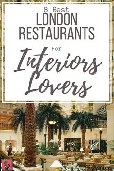 Obsessed with interior design? Check out this list of the best 8 bars & restaurants in London for interiors lovers! These are really top places to go for food & drinks with friends that have a great atmosphere. From the art deco interior of Brasserie Zedel, to the powder puff pink of Sketch, there's something here for everyone.