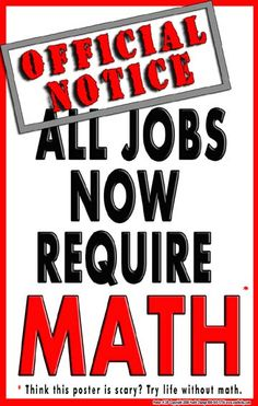 awesome math classroom posters | ... crap (well-intentioned as it may be) like this fills classroom walls