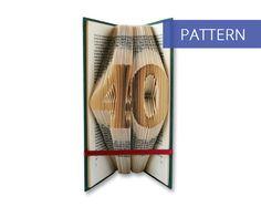Folded Book Art Pattern - Number 40 - 101 Folds - Including manual - Bookfolding Pattern - Folded Book Pattern - Book Folding pattern