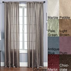 @Overstock - Add a touch of elegance to your home decor with crushed faux silk curtainsWindow treatments feature a ribbon embroidered scroll print Anya rod pocket curtain panel measures 55 inches wide x 108 inches longhttp://www.overstock.com/Home-Garden/Anya-Rod-Pocket-108-inch-Panel/3319847/product.html?CID=214117 $33.99