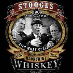 the stooges t-shirt STOOGES MOONSHINE  movie funny three