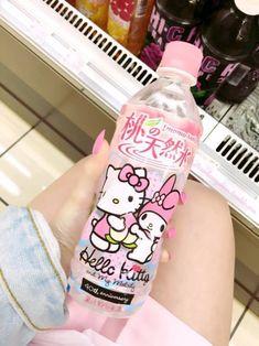 hello kitty, pink, and kawaii image Japanese Snacks, Japanese Candy, Japanese Food, Cute Japanese Stuff, Cute Snacks, Cute Food, Aesthetic Food, Pink Aesthetic, Hello Kitty Items