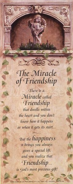 angel quotes that inspire | Miracle Of Friendship (Angel) wall art poster on Wall Art To Inspire