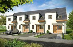 Row House Design, Modern House Design, Building Facade, Building Plans, Hotel Room Design, Duplex House, Property Design, Terrace Design, High Rise Building