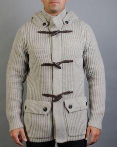 Tommy Hilfiger  Maglia chiusa da automatici con alamari, due tasche.    70% lana 22% nylon