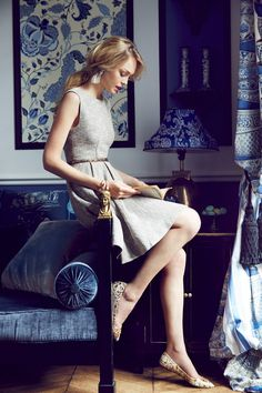 Shimmered Tweed Dress