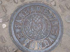 Ronda, Spain, manhole vover
