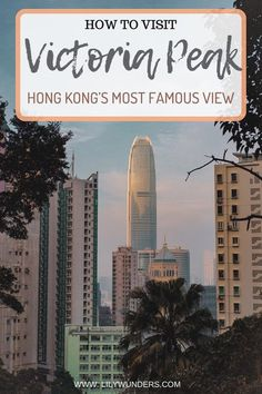 Victoria Peak is the highest point in Hong Kong and will gift you with sweeping iconic views of the Hong Kong skyline. Here's how to visit Victoria Peak. Cool Places To Visit, Places To Travel, Travel Destinations, Places To Go, Hongkong, Visit Victoria, Skyline, Travel Guides, Travel Tips