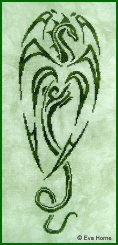 samurai dragon cross stitch