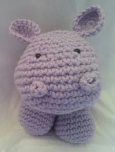 Kristen's Crochet: Hippo crochet pattern/tutorial - a really good place to start.
