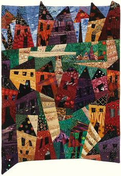 """""""My Kind of Town"""" from Joan M. Ladendorf's Art Quilt Collection, USA"""
