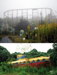 I love the beauty of an abandoned theme park....the nostalgia is amazing..although the creepy appeal is there with the fun people used to have now silenced & over run with rust