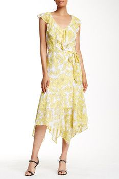 Robbie Bee Floral Print Handkerchief Dress