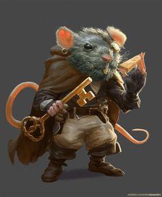Rat Thief, Alessandro Poli on ArtStation at https://www.artstation.com/artwork/qZGBL