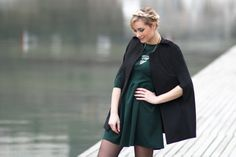 artlex/fashionblog/fashionblogger/blogueuse mode/lyon/french/france/cape/ootd/outfitoftheday/ /robe verte/street look/street style @SheInside