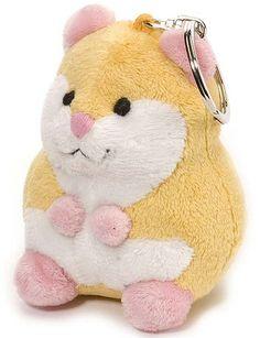 Hamster Plush Keychain Stuffed Animal by Wild Republic