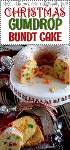 Christmas Gumdrop Bundt Cake – Lord Byron's Kitchen – Best Christmas Eve Holiday Cakes, Holiday Desserts, Holiday Baking, Holiday Recipes, Christmas Recipes, Christmas Cakes, Christmas Treats, Holiday Treats, Christmas Holiday