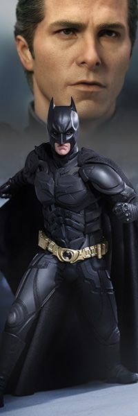 Batman DX - The Dark Knight Rises - Sixth Scale Collectible Figure $259.99    The highly anticipated release of The Dark Knight Rises, marks the epic conclusion to filmmaker Christopher Nolan's Batman trilogy. Celebrating the launch of this blockbuster film, Sideshow Collectibles is proud to present, from Hot Toys, the movie accurate Batman - Bruce Wayne DX Sixth Scale Collectible Figure.