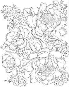 Fleurs en bouquet, dessin
