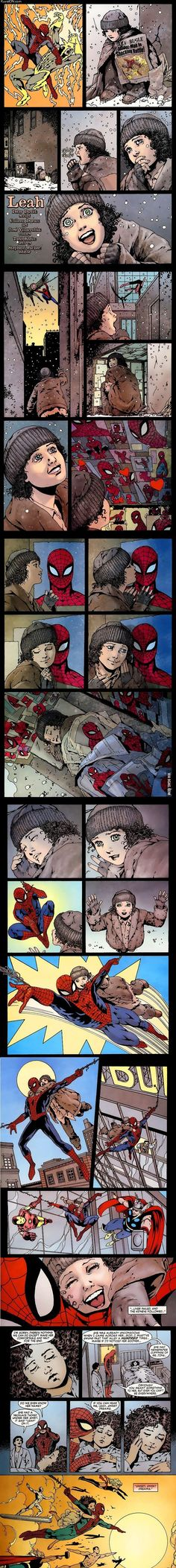 Seriously, Spiderman is full of sad all the time. Marvel Dc Comics, Sad Comics, Comics Story, Short Comics, Cute Comics, Marvel Heroes, Marvel Avengers, Spiderman, Mini Comic