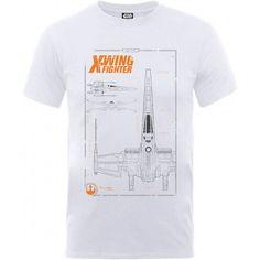 T-shirt X-Wing Blueprint - Star Wars