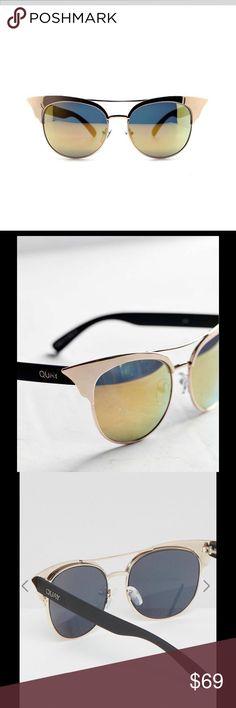 cf7c8c70537b Quay Australia Zig Metal Mirrored Cat Eye Sunnies NWOT. Authentic. Super &  bold eye