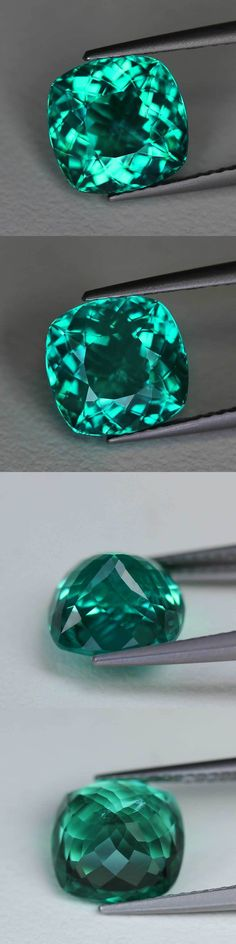 Apatite 110787: 4.01Cts Madagascar Neon Paraiba Blue Green Natural Apatite Cushion Cut Pr1067 -> BUY IT NOW ONLY: $199.99 on eBay!
