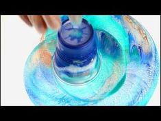 "Fluid-Art: ""Swirl"" technique acrylic pouring. Organic, round, tree ring like pattern - YouTube"