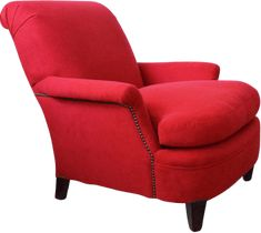 Cool vintage club chair reupholstered in red from Chairloom_red maxwell armchair
