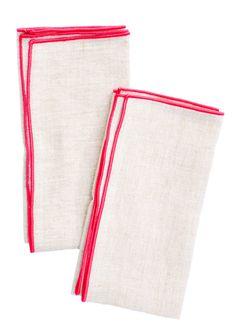 Color Trim Linen Napkin Set