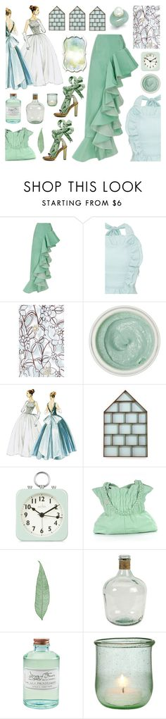 """""""Delicate"""" by deepwinter ❤ liked on Polyvore featuring Viva Aviva, Tracie Martyn, ferm LIVING, Acctim, Kenzo, Home Decorators Collection, Library of Flowers, Blue, teal and aqua"""