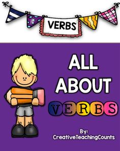 """Need a creative way to teach your students about verbs? My """"All About Verbs"""" pack can help you achieve this! This pack offers a way to make verbs STICK with your students. This particular part of speech can be confusing to some so providing your students with engaging material is important!"""