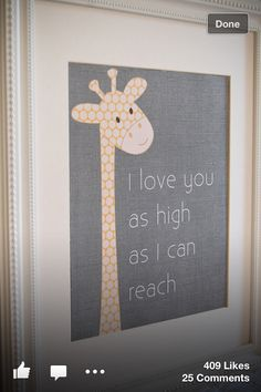 Giraffes have long necks, perhaps the better to see you and me? and peep at the man upstairs? hehe... <3