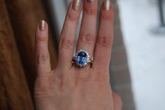 I always loved Princess Diana's (now Princess Kate's) blue sapphire ring